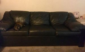Free Leather Sofa and Loveseat (Black) for Sale in Lakeside, CA