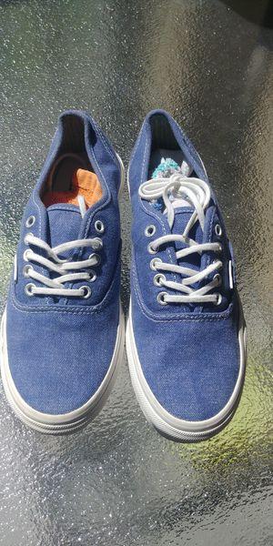 Vans Blue Denim Shoes Woman size 8 for Sale in Phoenix, AZ