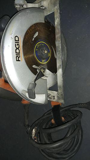 "Ridgid electric circular saw 7 1/4"" for Sale in Fairfield, CA"