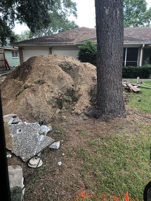 Bank sand or fill dirt available tracktor work for Sale in Houston, TX