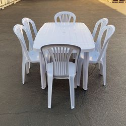 """$95 (new in box) set of 6pcs chairs and table set, indoor outdoor patio furniture, table 54x33x28"""", chairs 17x19x34"""" for Sale in Santa Fe Springs,  CA"""