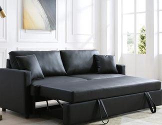 Rebecca Black PU Sleeper Sofa 💕💕💕 for Sale in Houston,  TX