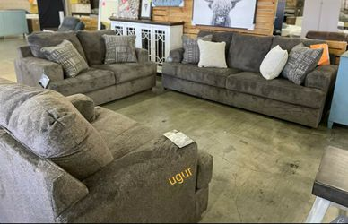 Limited Stock💥By Ashley Ash Color Living Room Set 💥Sofa and Loveseat for Sale in New Castle,  DE