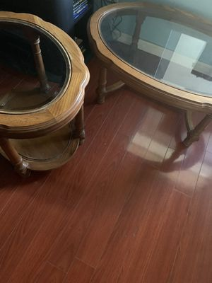 Glass table set-2 tables for Sale in San Jose, CA