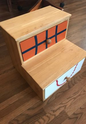 Wooden Kids step stool with drawers. for Sale in Tacoma, WA