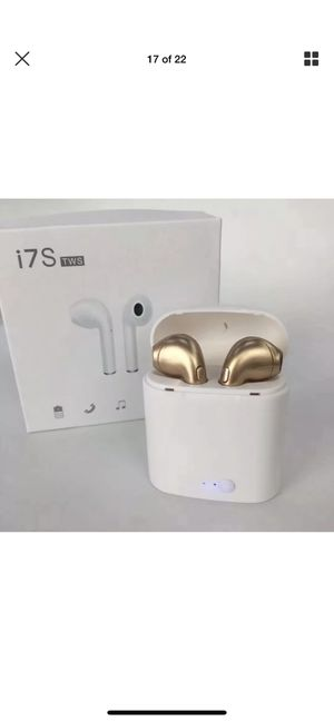 Gold Bluetooth wireless headphones earbuds audifonos for Sale in Denver, CO