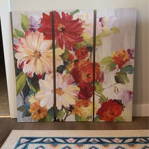 3 Panel Floral Picture for Sale in Washougal, WA