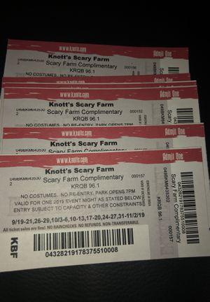 Knott's Scary Farm tickets 🎫 for Sale in San Jose, CA