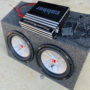 ($250 No Less / No Menos ) Kicker CVR 10s / New Box / 1500 Watt Monoblock Amp for Sale in Sanger, CA