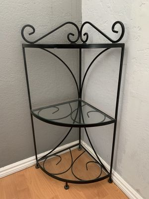 Wrought iron corner plant or book stand for Sale in Anaheim, CA