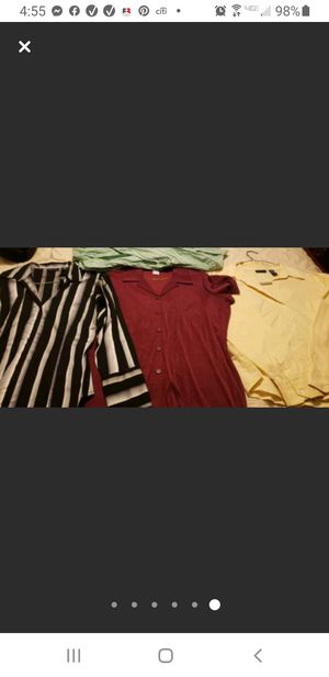 Size L women casual or dress shirts for Sale in Uniondale, NY