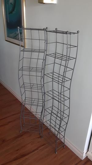 CD/DVD/VHS racks 15.00 each or 2 for 25.00 for Sale in Seattle, WA