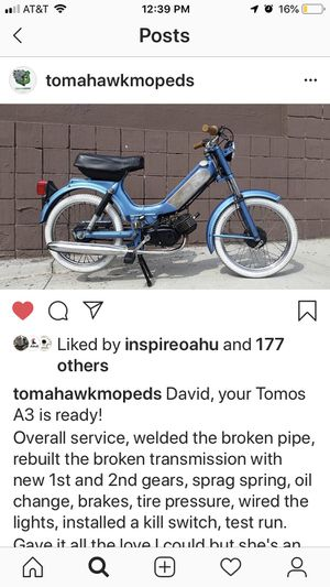 Tomos A3 running for sale for Sale in Culver City, CA