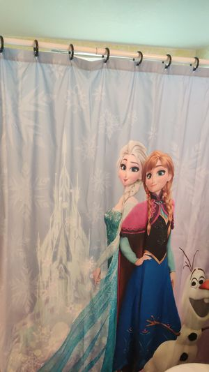 Disney Frozen Else, Anna and Olaf shower curtain for Sale in Lake Park, FL