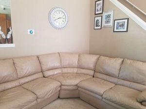 Italian genuine leather 12 people sectional for Sale in Conyers, GA