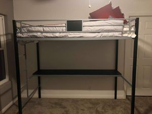Loft bed with desk MATTRESS NOT INCLUDING for Sale in Phelan, CA