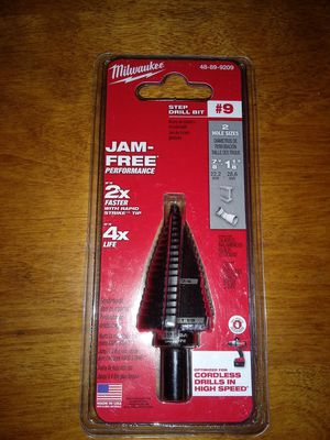 Milwaukee STEP DRILL BIT #9 7/8& 1-1/8 for Sale in Bakersfield, CA