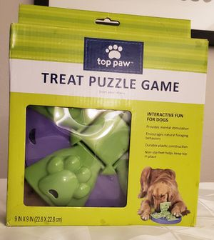 "NEW IN BOX ""TOP PAW"" TREAT PUZZLE GAME 9 X 9 "" INCHES for Sale in Lynwood, CA"