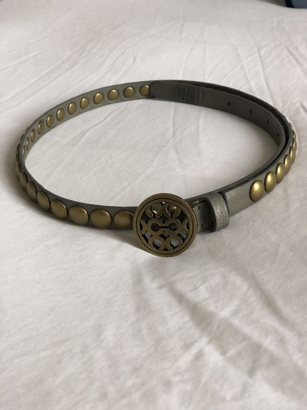 Coach leather and brass belt