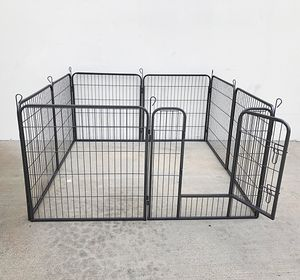 """New $85 Heavy Duty 32"""" Tall x 32"""" Wide x 8-Panel Pet Playpen Dog Crate Kennel Exercise Cage Fence for Sale in El Monte, CA"""