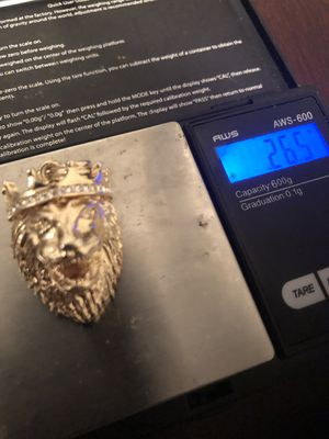 18K 100% Gold Lion Head Pendant ! 26.5 Grams! for Sale in North Potomac, MD