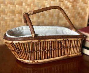 Boat shaped wicker basket for Sale in Everett, WA