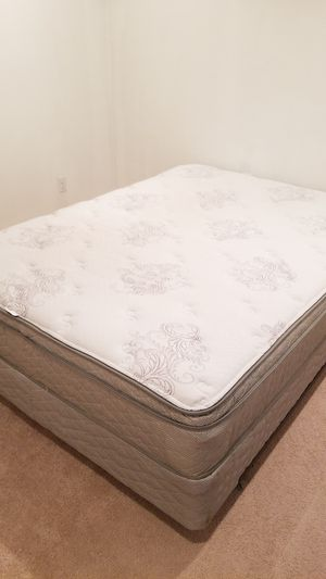 Serta full size mattress and box spring for Sale in Clifton, VA
