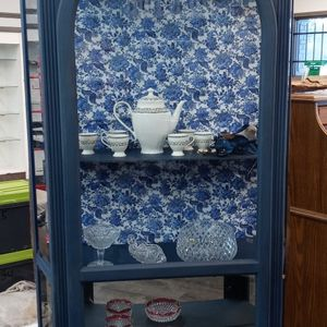 Chic'ed Bella Hand Painted Curio Cabinet/China for Sale in Hudson, FL