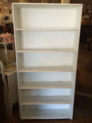 "Shabby Chic White Bookcase shelf $75 35x9x72"" for Sale in San Diego, CA"