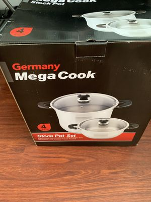 18/10 Stainless Steel MEGA COOK Germany fry pan low POT kitchen cookware for Sale in Lakewood, CA