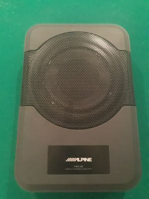 """Alpine compact powered 8"""" subwoofer (under seat) for Sale in Washington, DC"""