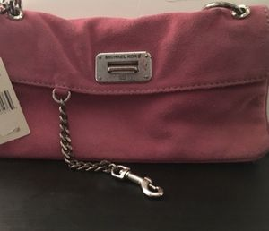 Vintage Michael Kors amazing pink suede purse for Sale in Silver Spring, MD