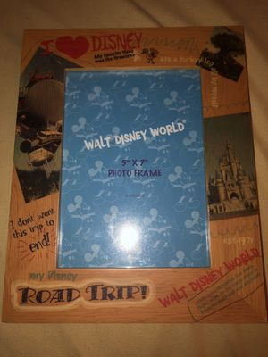 Disney World 5x7 Wooden Picture Frame for Sale in Doral, FL