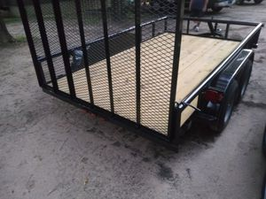 Heavy duty 12 foot trailer with brakes for Sale in Dallas, TX