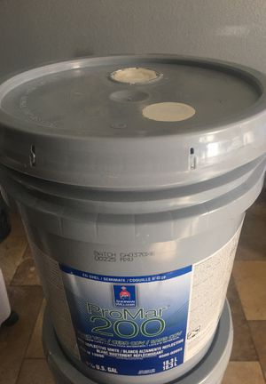 House paint 1 off white bucket eggshell interior for just $ 50 firm for Sale in Las Vegas, NV