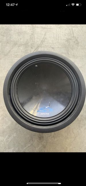 Alpine car subwoofer speaker SWS-12D4 12 inches for Sale in Irvine, CA
