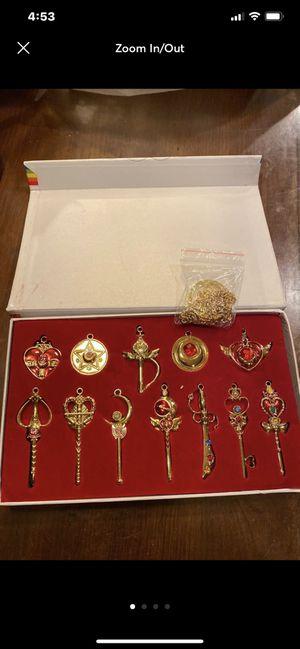 Sailor Moon 12 pcs pendant set for Sale in Ellsworth, ME