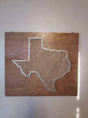 Handmade Texas String Art Wall Hanging for Sale in DeSoto, TX