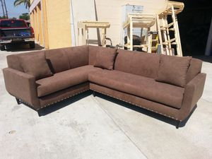 NEW 7X9FT ANNAPOLIS MOCHA FABRIC SECTIONAL COUCHES for Sale in Los Angeles, CA