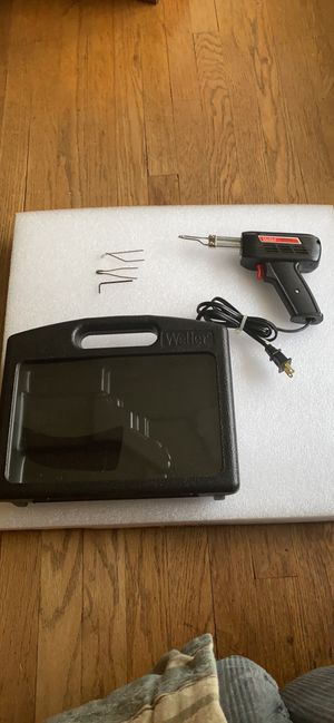 Weller Soldering iron g un 8200 Universal 140/100 watts with the extra tips, wrench and case for Sale in Dallas, TX