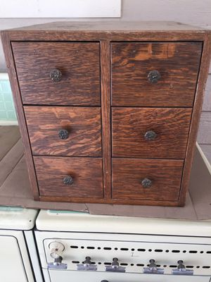 Antique Globe Wernicke 6 Drawer Index Card File Cabinet/Box for Sale in Morrison, CO