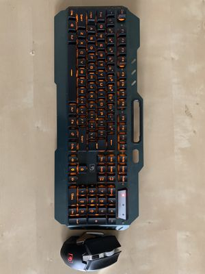 Rechargeable Wireless Gaming Keyboard Mouse Combo for Sale in Fayetteville, NC