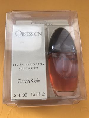 Obsession By Calvin Klein Women Perfume Edp Splash Purse Size 0.5oz /15ml for Sale in Odessa, TX