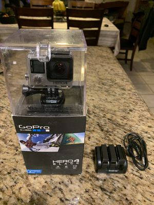 Gopro Hero 4 Black + Charger and Extra Batteries for Sale in Laguna Hills, CA