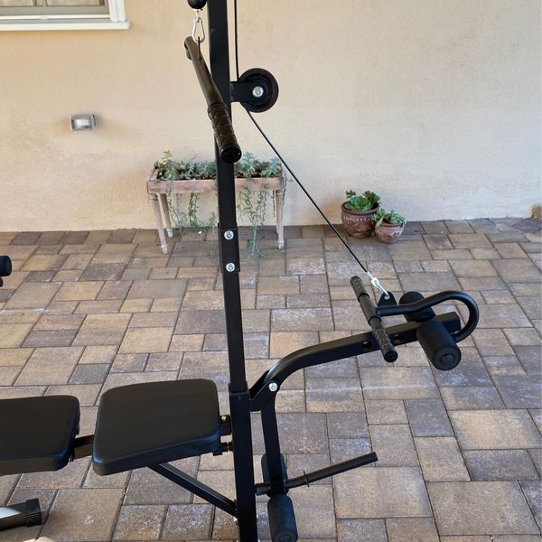 Multifunctional Weight And Exercise Machine (bench Press, Leg Press, Pull Down Bar, Bicep...)