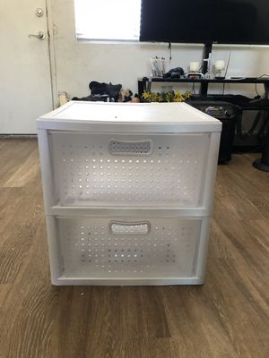 2 drawer plastic Storage for Sale in National City, CA