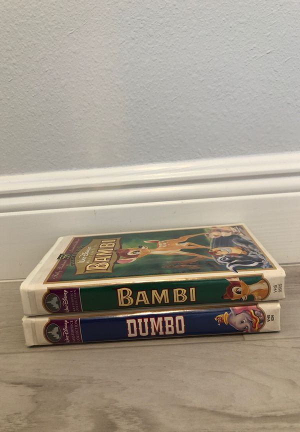 WALT DISNEY MASTER PIECE COLLECTION VHS DUMBO/BAMBI