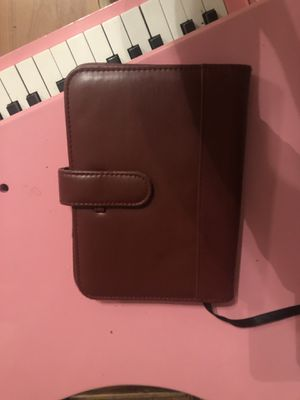 Red leather journal and photo album or business card holder for Sale in Dry Prong, LA