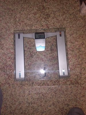 Conair glass bathroom scale with Clock for Sale in San Diego, CA