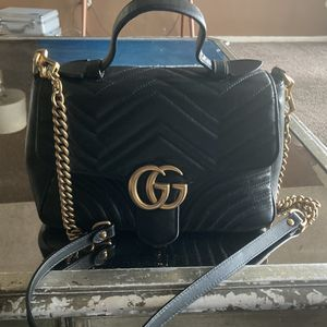 Gucci GG Marmont small top handle bag black for Sale in Inglewood, CA